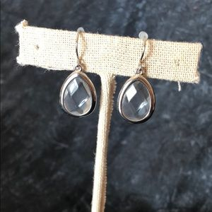 Clear small drop earrings
